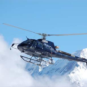 Réservez votre hélicoptère en provenance/à destination de Courchevel