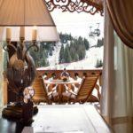 Appartement Loze 6 - Salon avec vue pistes